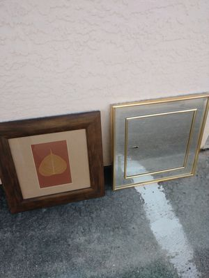 Mirror and wall art. Priced for both for Sale in Fort Myers, FL