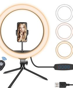 Ring Light with Tripod Stand & Phone Holder, for Sale in Philadelphia,  PA