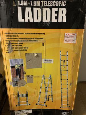 3.8 (1.9+1.9) Telescopic Ladder for Sale in Bakersfield, CA
