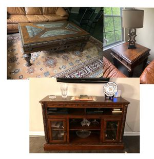 LIVING ROOM SET (Coffee Table, TV Stand, Side Table) for Sale in Fairfax, VA