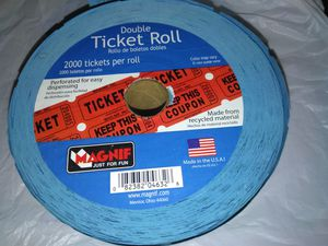 Double Ticket roll for Sale in Indianapolis, IN