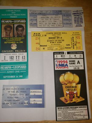 Rare Mohammed Ali unused fight ticket and others for Sale in Phoenix, AZ