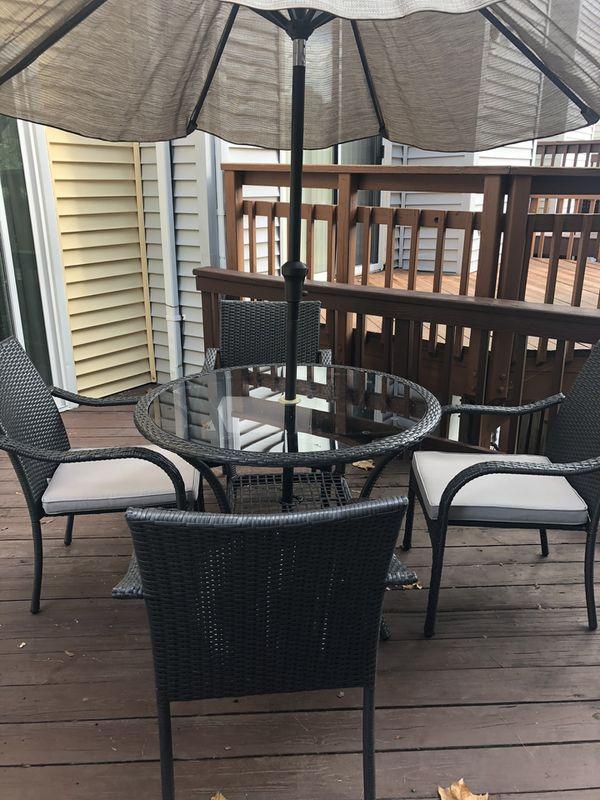 Patio and umbrella set for sale