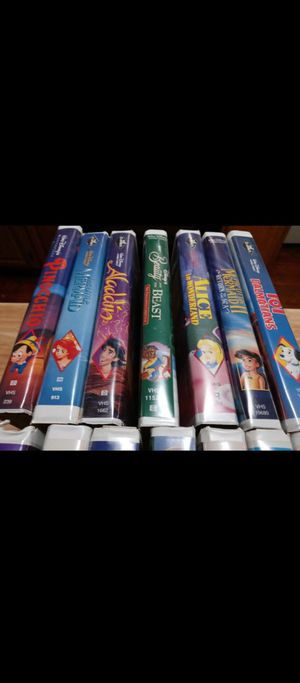 Disney Classic Movies 14 VHS Tapes Free!!! DVD /VHS player for Sale in Philadelphia, PA