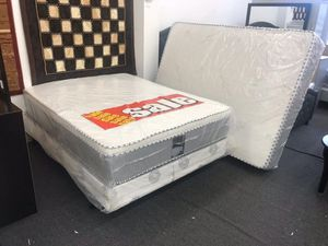 full bamboo pillow top mattress with boxspring for Sale in Diamond Bar, CA