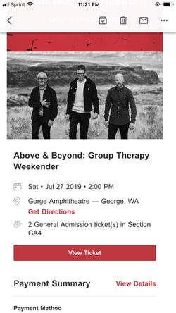 Above & Beyond Group Therapy Weekender for Sale in George,  WA