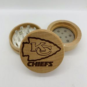 Kc chiefs NFL laser engraved wood kitchen herb grinder Christmas gift for Sale in Los Angeles, CA
