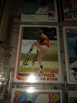 Nolan Ryan Autographed Baseball Card for Sale in Houston, TX
