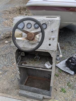 Boat jet aluminum helm console steering wheel for Sale in Snohomish, WA