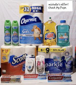 Scott/Sparkle/Charmin/Ajax/Mr. Clean febreeze/Febreeze/Scrubbing bubbles/Colgate set for Sale in Clinton, MD