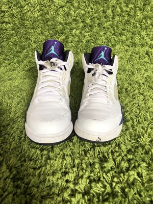 Air Jordan grape 5 for Sale in Arlington, VA