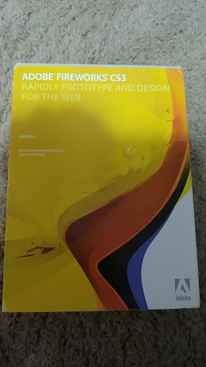 Adobe Fireworks CS3 Rapidly Prototype And Design For The Web for Sale in Hillsboro, OR