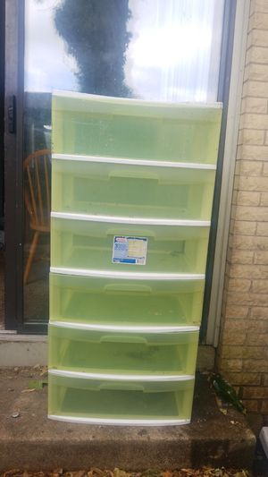 Six tier plastic storage container sliding drawers for Sale in Columbus, OH