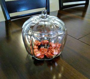 Glass Pumpkin Candy Jar for Sale in Anaheim, CA