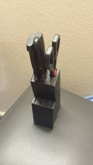 Knife holder with knives for Sale in Flint, MI