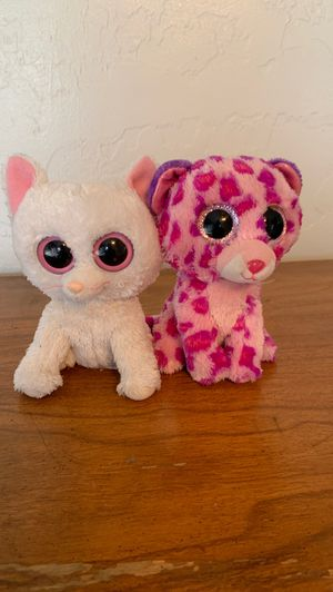 Cat and Tiger beanie baby stuffed animals for Sale in Phoenix, AZ