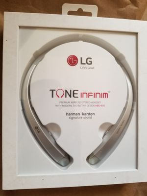 LG HBS-910 TONE INFINIM OEM BLUETOOTH HEADSET HARMON KARDON SOUNDS SILVER or black for Sale in Dearborn, MI