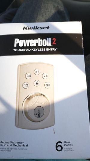 Kwikset Powerbolt 2 Electronic Deadbolt Door Lock Keyless Entry Touchpad -Re-Key for Sale in Oceanside, CA