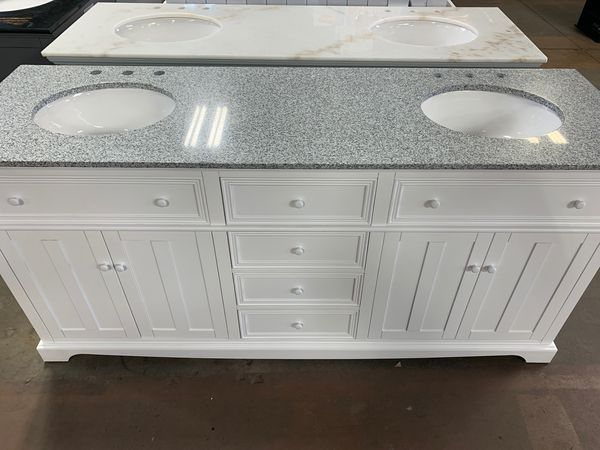"""72"""" white double bathroom vanity for Sale in North Fort ..."""