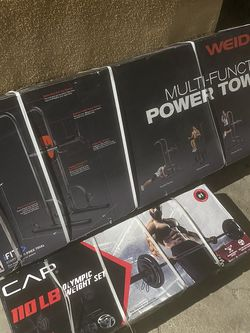 Power Tower And Olympic 110lb Weight Set for Sale in Lynwood,  CA
