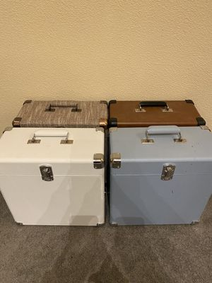 4 Crosley CR401-TN Record Carrier Case for 30+ Albums, for Sale in Seattle, WA