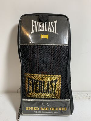 Everlast Black Leather Speed Bag Gloves Model 4312Y Size Youth Boxing for Sale in Dallas, TX