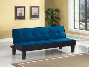 Bran new ACME Furniture Hamar Flannel Futon. Blue for Sale in Hilliard, OH