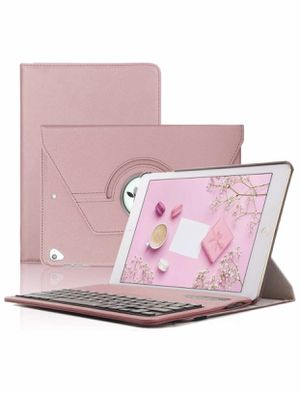Keyboard Case iPad 9.7(6th Gen, 5th Gen) - iPad Air 2&1 - iPad Pro 9.7-360 Rotating - Detachable Keyboard - PU Leather Stand - iPad Case with Keyboar for Sale in Raleigh, NC