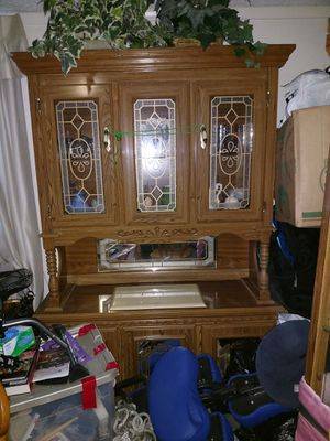 Antique China cabinet with light for Sale in Henderson, CO