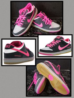 Nike SB Dunk Low Pro Disposable Men 7 Women 8 Skate Shoe Sneaker Black White Pink Leather NwoT for Sale in Chula Vista, CA