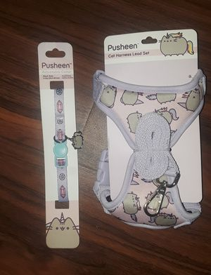 CAT HARNESS AND COLLAR PUSHEEN CAT TREATS BUNDLE for Sale in Plant City, FL