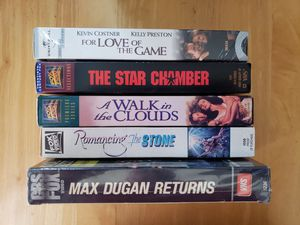 LOT OF 5 VHS . THE STAR CHAMBER & MORE for Sale in Anaheim, CA