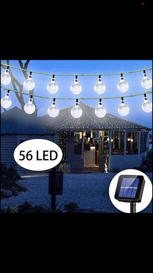 Solar String Lights Globe 33 Feet 56 Crystal Balls for Sale in Colonial Heights, VA
