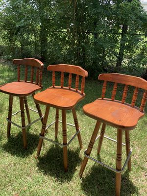 Wooden Stool Chairs for Sale in Houston, TX