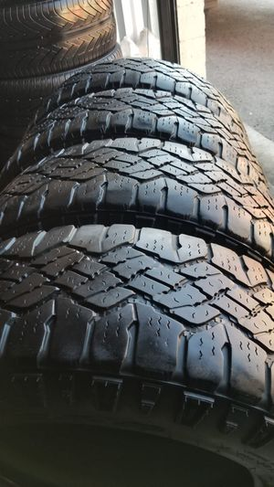 4 tires 285 65r18 goodyear Wrangler very good tread on $280.00 all 4 for Sale in Anaheim, CA