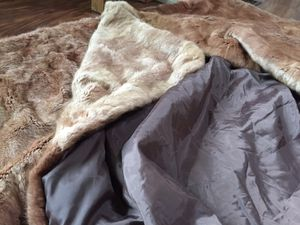 Real fur blanket for Sale in Tualatin, OR
