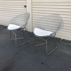 Mid Century Modern Chrome Diamond Chairs for Sale in Chula Vista, CA