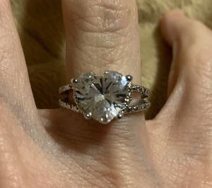 New CZ heart wedding ring sterling silver size 6 for Sale in HOFFMAN EST, IL