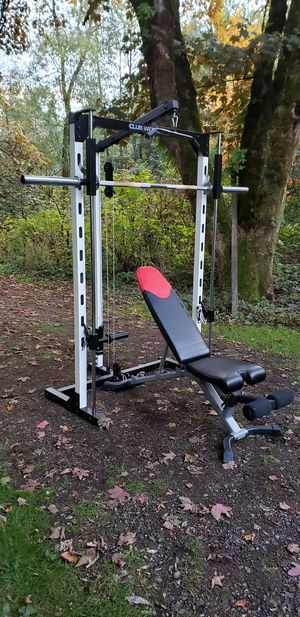 Cub Weider 550 Smith Machine with Bowflex 3.1 Bench for Sale in Snohomish, WA