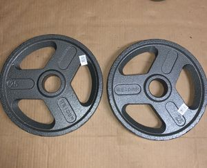"Weider 25lb Olympic 2"" hammertone plate pair for Sale in Norfolk, VA"