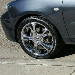 "18"" Chrome Rims, Tires for Sale in Española, NM"