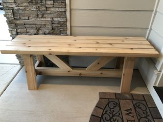 Handmade Cedar Bench for Sale in Prineville,  OR