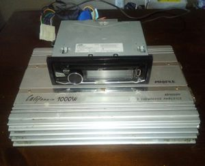 Amp JVC Cd player and 10inch JL audio speaker with box for Sale in Dallas, TX
