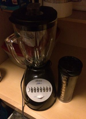 Glass pitcher blender and Starbucks coffee mug for Sale in Aurora, CO