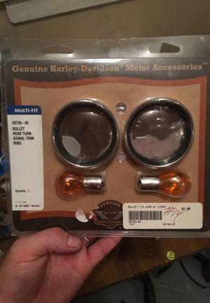 Harley-Davidson multi fit bullet rear turn signal trim ring for Sale in Wichita, KS