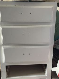 Wood Kitchen Cabinet With 4 Working Drawers (Need Gone ) for Sale in Flower Mound,  TX