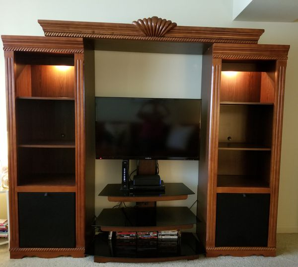 Entertainment center with tv stand