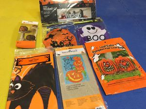 Halloween decorations wind socks table cloth house flag and more for Sale, used for sale  Freehold, NJ