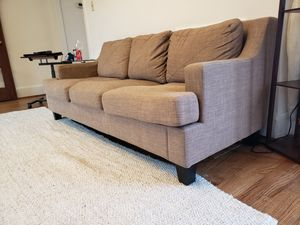 Elston Linen Tufted Sloped Track Sofa iNSPIRE Q Modern - Taupe for Sale in Washington, DC