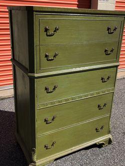 Olive Colored Antique Dresser for Sale in Marietta,  GA